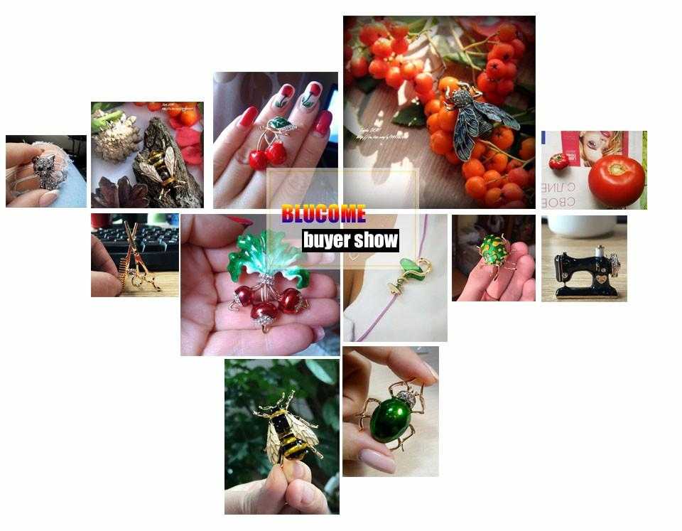 Blucome Retro Turkish Jewelry Set Red Resin Crystal Flower Pendants Necklace Earrings Sets Women Party Wedding Gift Accessories