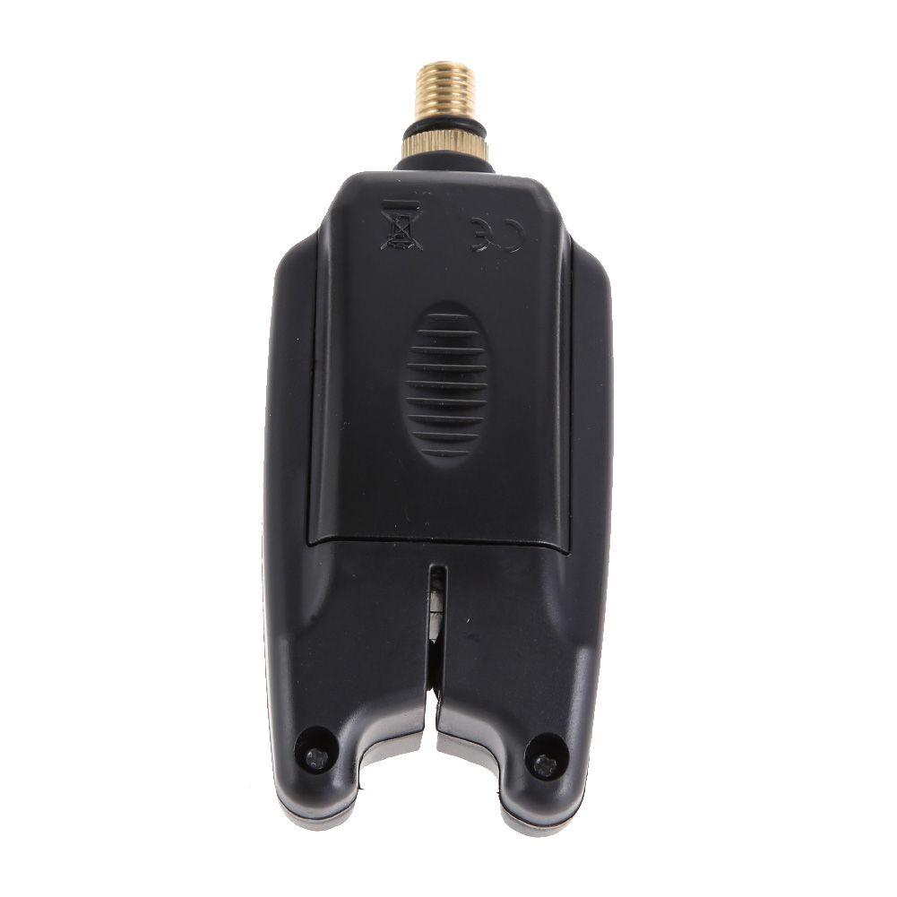 Électronique 2 LED Réglable Ton Sensibilité Au Volume Son Fish Bite Alarme Cloche Sur Canne À Pêche Outil De Pêche Imperméable À L'eau