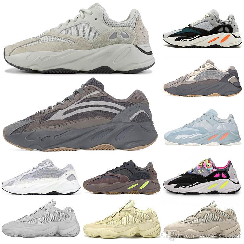 outlet store e6b20 6e12b Wave Runner Kanye West 3M static Glow in Dark Reflective line New Fashion  shoes Designer Athletics Fashion Sneaker Brand Luxury Trainers