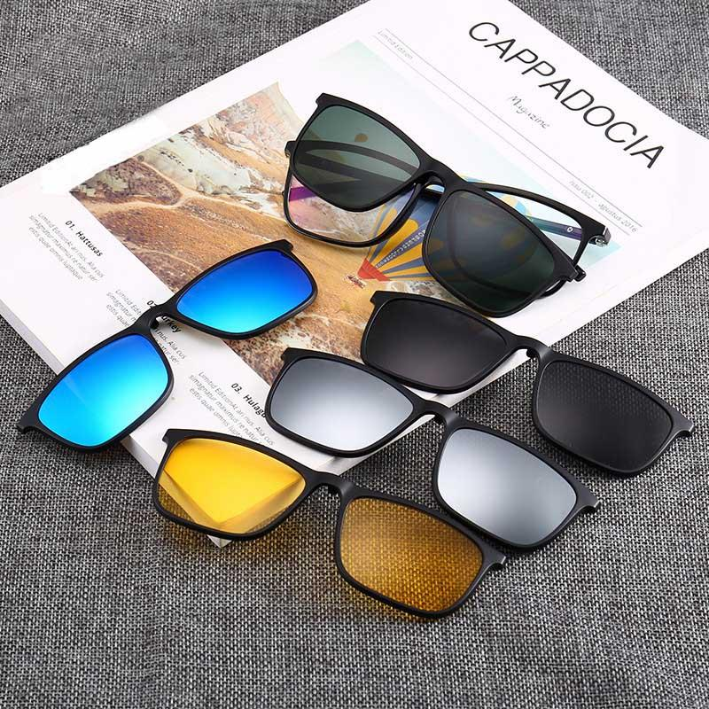 e5d8bf5285 Square eyeglasses with magnetic snap on shades magnetic polarized jpg  800x800 Magnetic snap on sunglasses
