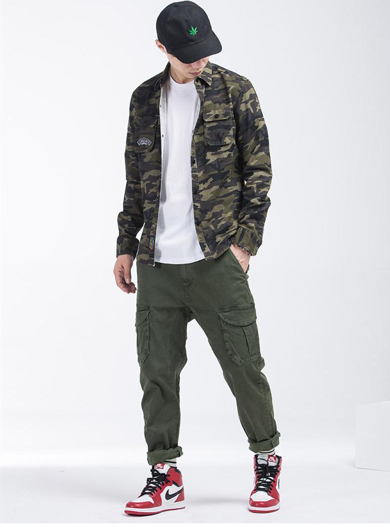 b09f7b8a02a4b New Designer Mens Clothing Cargo Pants Pocket Loose Style Casual Elastic  Waist Hip Hop Sweatpants Joggers New 2019 Streetwear Trousers Men s  Clothing Men s ...