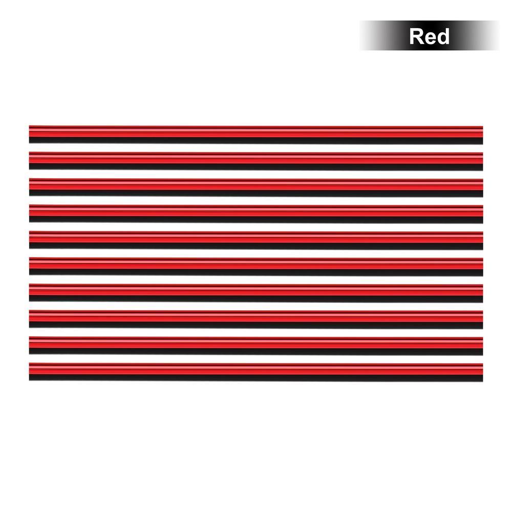 10 قطعة / مجموعة مكيف الهواء المخرج مصبغة الديكور U الشكل DIY التصميم الكروم النفخ السيارات تنفيس الهواء تريم قطاع السيارات-التصميم