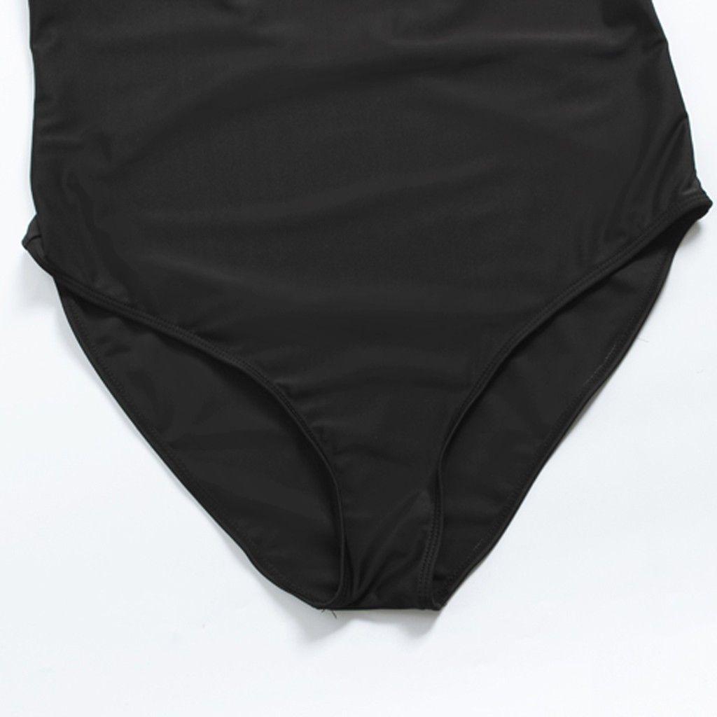 Plus Size Swimwear Women Sexy Black One Piece Swimsuit Women Summer 2019 Sexy Sport Bathing Swimming Suit For Women Stroj Kapi