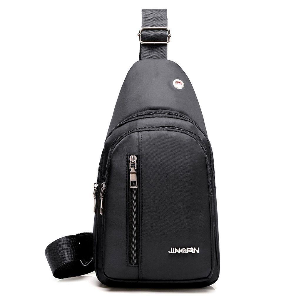 00e3507e269 2019 New Shoulder Bags For Men Fashion Outdoor Solid Versatile Shoulder Bag  Messenger Bag Luxury 3 Colors New Canvas Chest