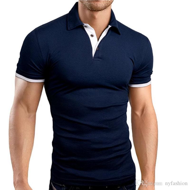 Compre 2018 Homens Pólo Camisa Para Homens Desiger Polos Homens Camisa De  Algodão De Manga Curta Roupas Jerseys Golftennis Tamanho M XXXL M3 618 De  ... 18f1ebd1d74cb