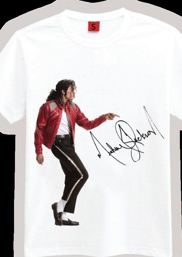 116a2a525f Compre Assinado Michael Jackson Camiseta T T Shirt Imagem Autógrafo  Presente De Aniversário Secreto Engraçado Frete Grátis Unisex Top Casual De  Paystoretees ...