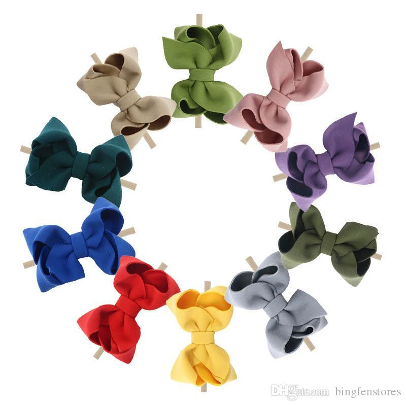 INS hair bows baby headbands nylon baby girl headbands girls designer headband designer headbands kids headband hair accessories