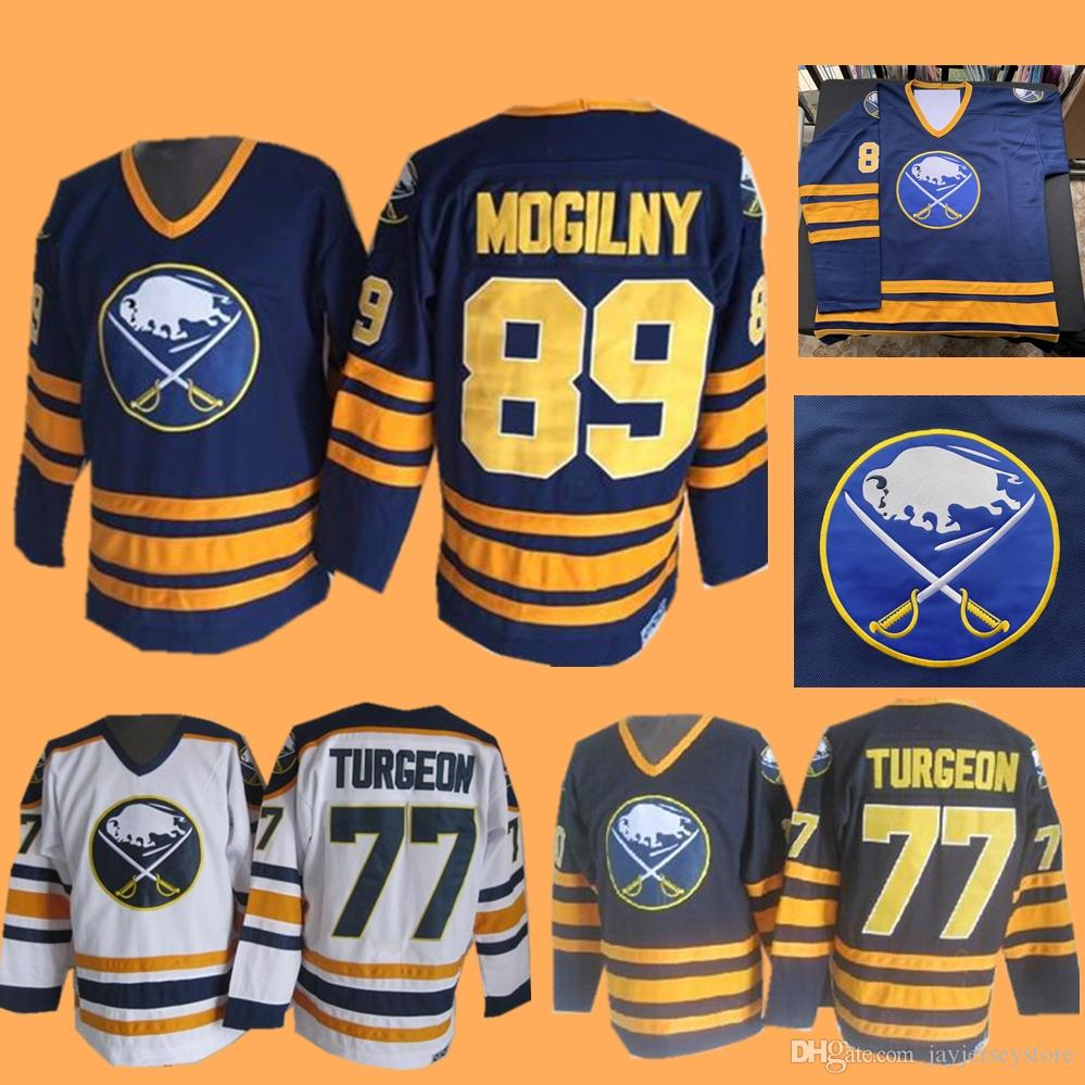 1cf51d0bc 2019 Pierre Turgeon Alexander Mogilny Jersey Ice Hockey Buffalo Sabres NEW  York Islanders Jerseys CCM Vintage White Navy Home Away From  Jayjerseystore, ...