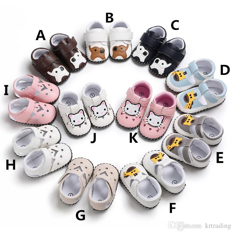11 style Baby animal Sandals for infants boys girls Giraffe Elephant Cat pattern Loving heart hollow out rubber sole anti-slip baby summer