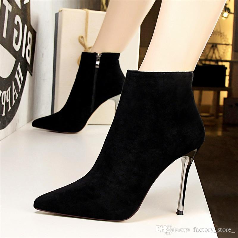 Compre Botas De Mujer Botines Para Mujer Zapatos Mujer Tacones Altos Botas Mujer  Zapatos Zapatos De Mujer Botas Mujer Invierno Chaussures Femme Botines A ... 9c1fd114078c