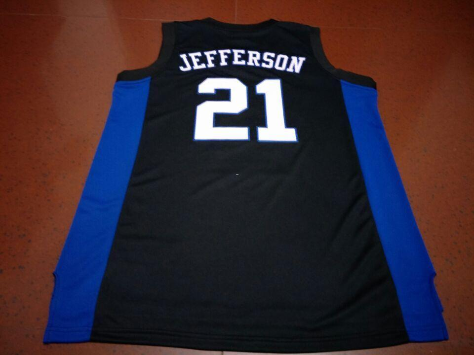 big sale 5a6a9 9aefa Men DUKE BLUE DEVILS #21 AMILE JEFFERSON College jersey Size S-4XL or  custom any name or number jersey
