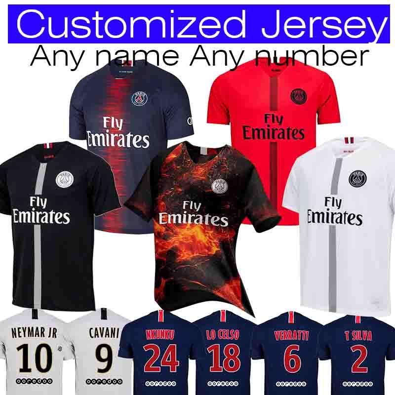 wholesale dealer 7c2c0 f24e2 2018 2019 PSG MBAPPE #7 Cavani #9 Mbappe #29 Soccer Jersey Thailand #10 DI  MARIA 11 Verratti 6 Paris Saint Germain football Shirt