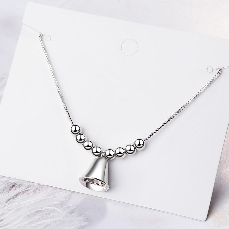 TJP Cute Lady Bell Bracelet Jewelry Trendy 925 Sterling Silver Bracelet For Women Girl Accessories Female Lover Birthday Gift