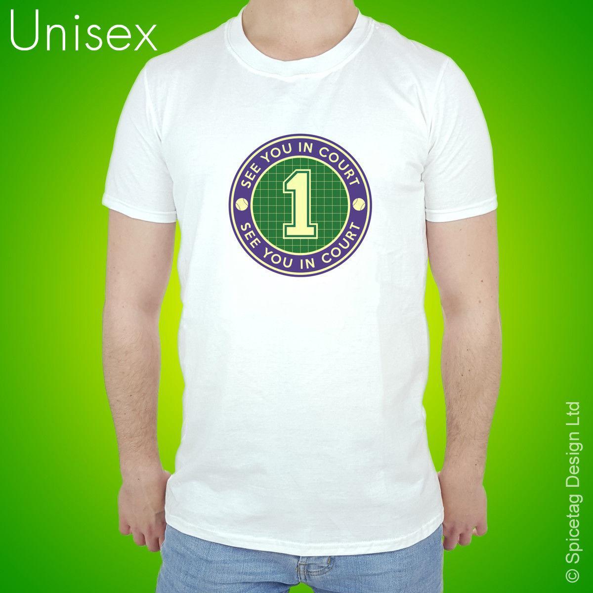 9693351a8d025 Compre Quadra De Tênis 1 T Shirt Engraçado Esportes Tshirt Raquete Jogador  Bola T Shirt Tee De Newlife066