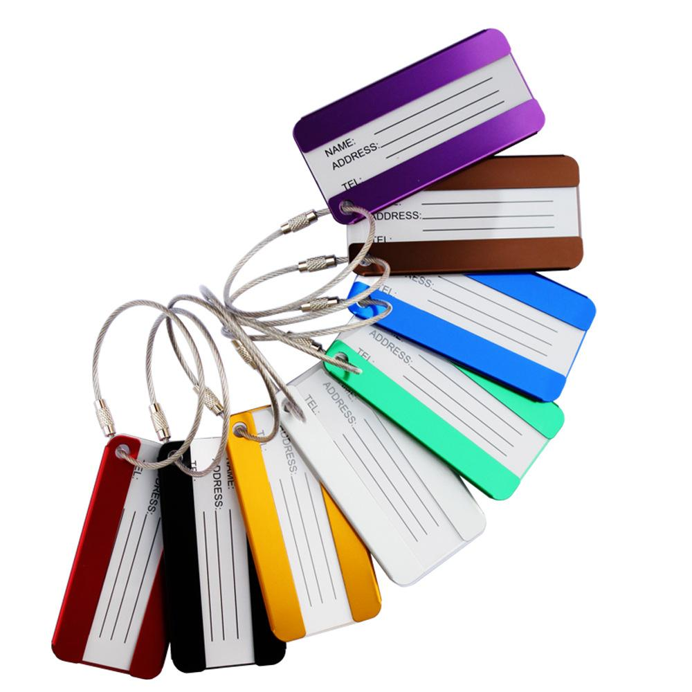 40e936a943f6 Metal Luggage Tags Aluminum Alloy Luggage Tags Travel Luggages Label Straps  Suitcase Name ID Address Pet Tags Bag Parts Accessorie GGA1692