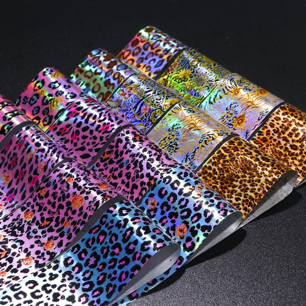 Schönheit & Gesundheit Nails Art & Werkzeuge 16 Stücke Leopard Blume Folie Papier Nagel Aufkleber Sliders Holographische Transfer Wraps Adhesive Maniküre Nail Art Dekoration Set Ji936 GüNstige VerkäUfe