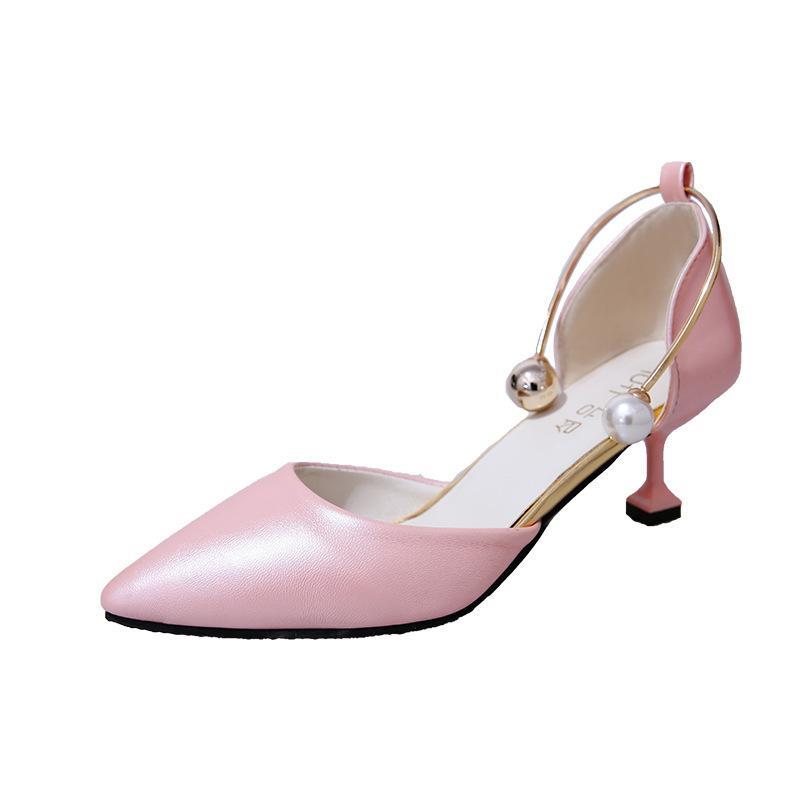 Compre Diseñador De Zapatos De Vestir Sandalias De Mujer Tacones Altos  Verano Mujer Sandalias De Gladiador Bloques De Tacón Correa De Perlas De  Las Mujeres ... 94e51edcb3fa