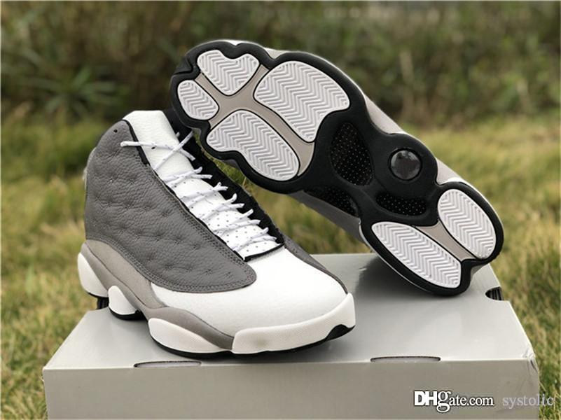 943646a385e 2019 2019 New Authentic 13 Atmosphere Grey Men Basketball Shoes Grey Sports  Sneakers Real Carbon Fiber 414571 016 With Box From Systolic, $155.33    DHgate.