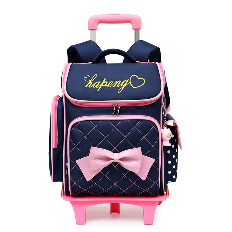 9e9a891bf8 Children School Bags For Girls Bow Cute Detachable Trolley Backpack Kids  Travel Luggage Book Bag Schoolbag Mochilas Escolares Boys Backpacks Laptop  Rucksack ...