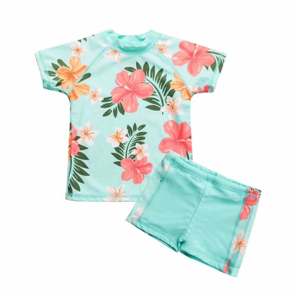 4d076b4c757 2019 Toddler Girls Swimsuit Two Piece Rash Guard Set UV Protective Swimwear  From Vingner, $91.25 | DHgate.Com