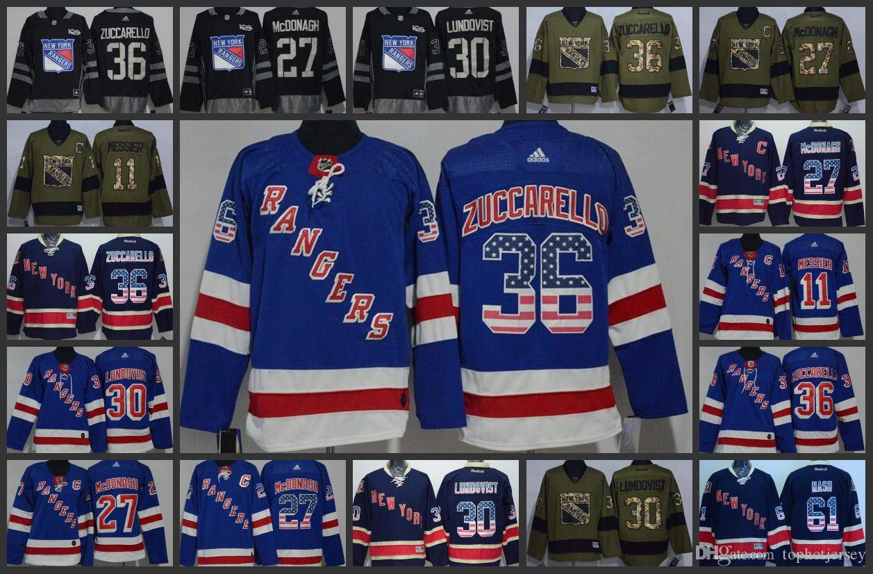 Classic New York Rangers Hockey Jerseys 36 Mats Zuccarello 27 Ryan McDonagh 30  Henrik Lundqvist 11 Mark Messier Stitched Jersey Online with  29.59 Piece  on ... f7f5db58c