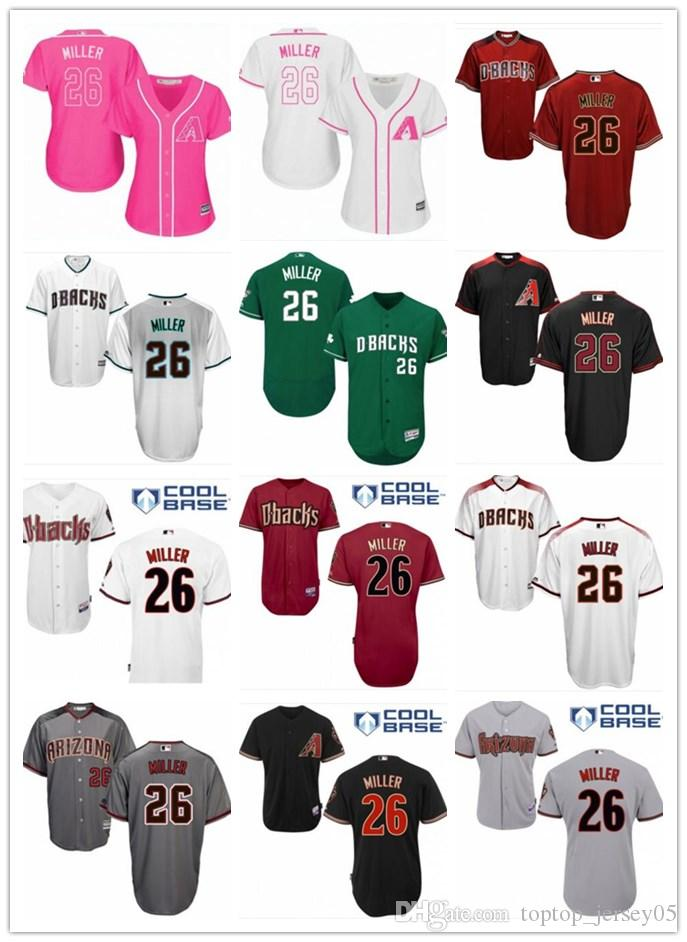 huge discount a00c3 e2d2a 2018 top Arizona Diamondbacks Jerseys #26 Miller Jerseys  men#WOMEN#YOUTH#Men's Baseball Jersey Majestic Stitched Professional  sportswear
