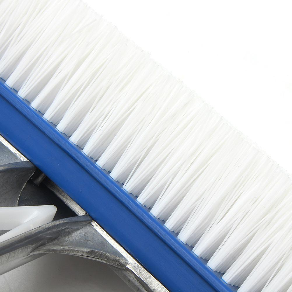 2019 18 Curved Swimming Pool Cleaning Tools Spa Wall & Floor Brush W/Nylon  Bristles Cleaner Broom