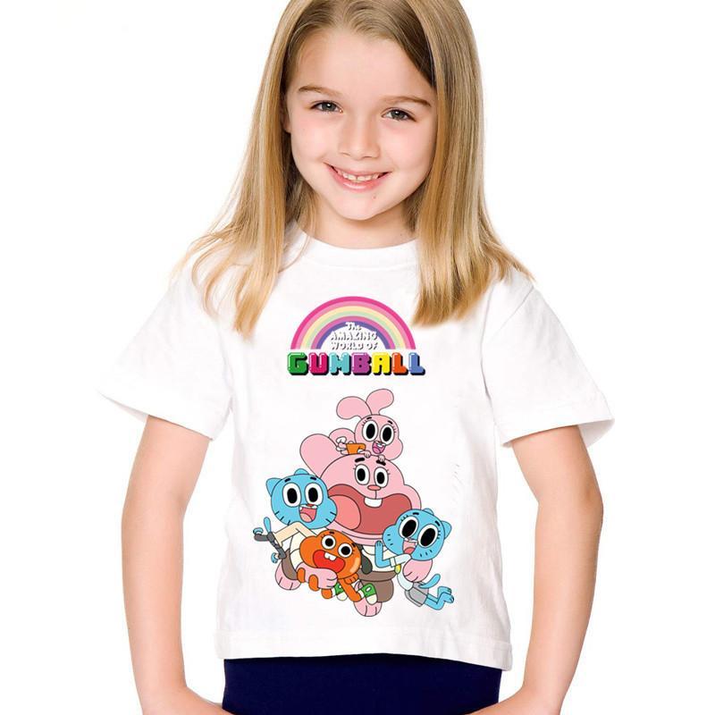 f971e45f680fb Acheter Le Dessin Animé D'enfants Imprime Le Monde Étonnant De T Shirts  Drôles De Gumball, Des Vêtements D'été Pour Enfants, Un Tee Shirt Pour Bébé,  ...