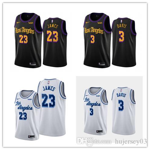 2020 Mens New Cityedition Jersey Nbabasketball Los Angeleslakers 23 Lebronjames 3 Anthonydavis Jersey