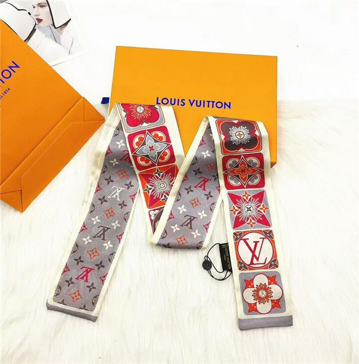 fashion brand silk scarf fashion women's tie bag handle ribbon brand printed hair scarf wrist ribbon