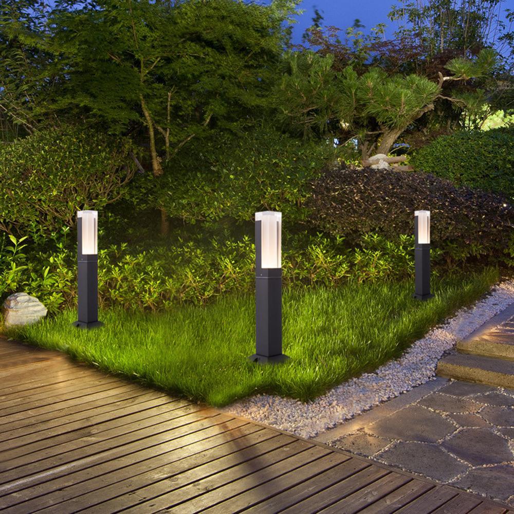 Le jardin moderne 220v 110v a mené la décoration extérieure de jardin de  lampe d éclairage de pelouse imperméable pour la cour de triage, la rue de  ...