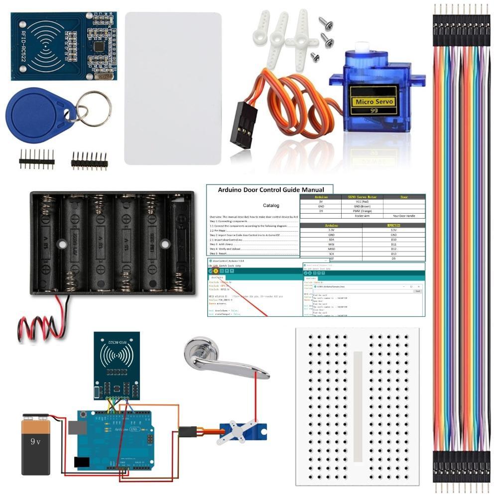 RFID RC522 RF Sensor Module for Arduino Kit Door Access Control Kits for  Arduino UNO R3 MEGA Nano Beginner Starter with Tutorial