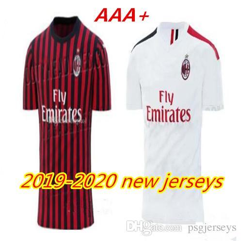 6ce96696a4d 19 20 Ac Milan Soccer Jersey 2019 2020 AC Milan Piatek BACCA PAQUETA ...