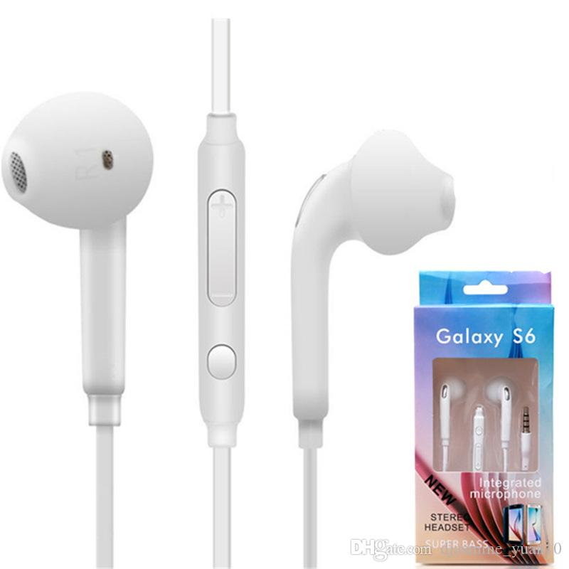 High quanlity Headphones In-Ear Earphone with Mic and Remote Stereo 3.5mm Headset for Samsung Galaxy S7 S6 S5 S4 20pcs/up mini order
