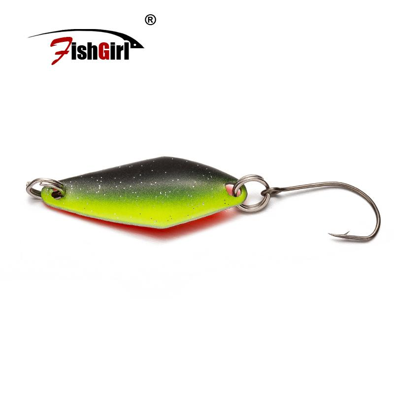 Pesca Isca Artificial Bait Trout Spoon 3.6g 29mm Metal Fishing Lure Wobbler Spoon Lure Perch Pike Salmon Chub Hard Bait