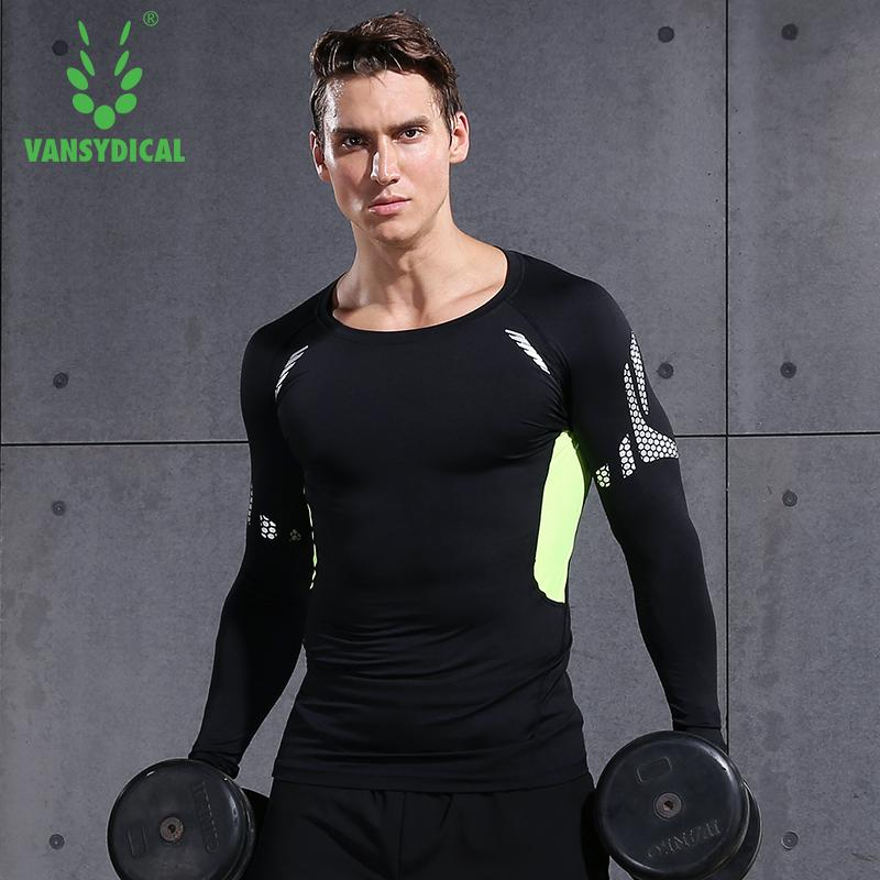 8a45087130e648 2019 Vansydical Men Compression Shirt Gym T Shirt Long Sleeve Quick Dry  Tight Tee Shirts Workout Clothing Breathable Sports Tops Men From  Xuelianguo, ...