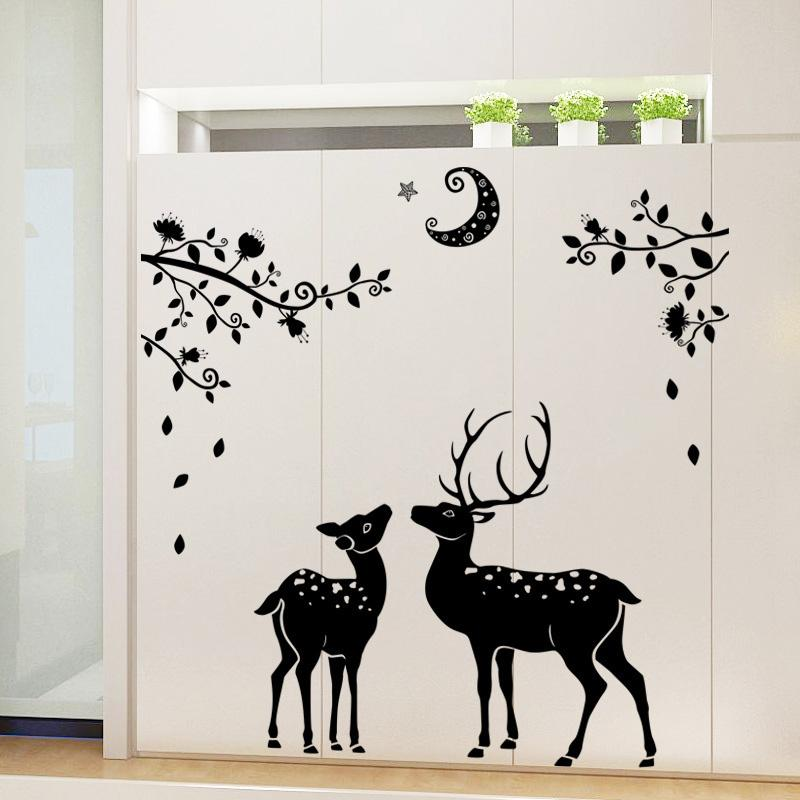 Elk Christmas series wall stickers Children's room living room porch bedroom TV background wall decoration stickers