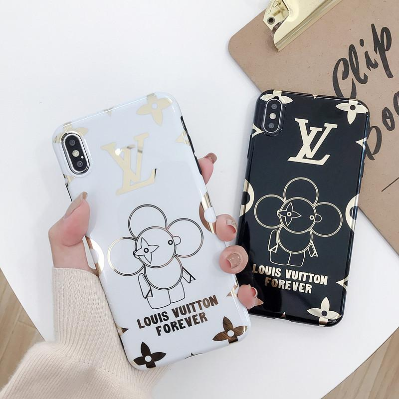 Wholesale luxury designer phone case gold printing For iphone x xr max 6 7 8 plus high quality Cell phone cover stunk free shipping