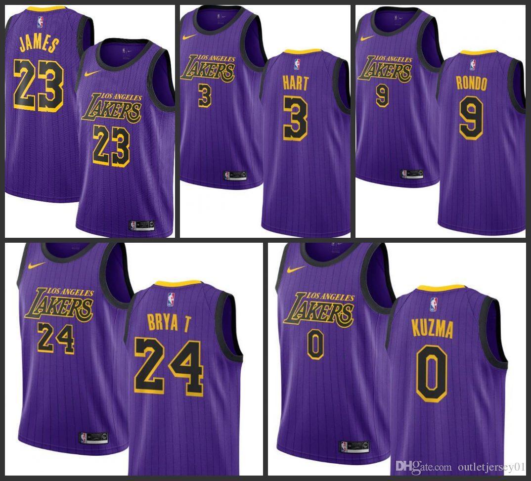 2019 2019 Los Angeles Men Lakers Jersey  23 LeBron James Kobe Bryant Josh  Hart Kyle Kuzma City Edition Jerseys From Jerseyoutlet 05 2f2dfd93454a