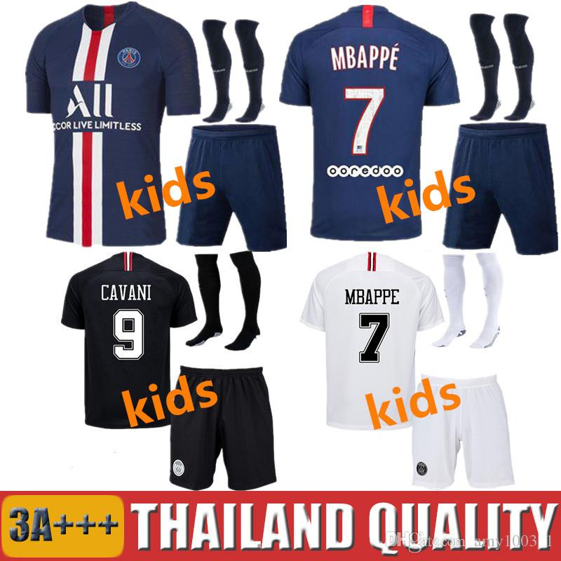 newest 7780c a3aab PSG AIR JORDAN soccer jersey football shirt maglia da calcio per bambini  kit 2019 Parigi via terzo MBAPPE CAVANI DI MARIA VERRATTI saint germain ...