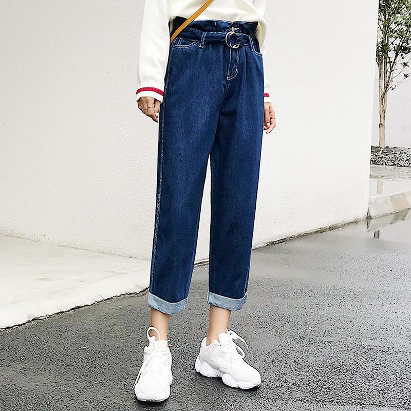 2019 Baggy Boyfriend Jeans For Women High Waisted Straight ...