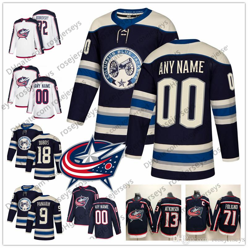 6d33c2eff Custom Columbus Blue Jackets 2019 Blue Third Jersey Any Number Name ...