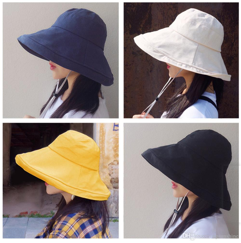 28781a60 New Unisex Wide Brim Boonie Cap Sunblock Foldable Fishing Hiking Hunting  Outdoor Bucket Hats Sun Protective Fisherman Hats Cowboy Hats Pork Pie Hat  From ...