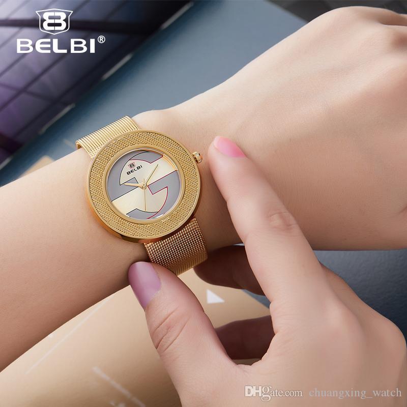 Compre 2019 AAA Reloj De Oro Moda De Mujer De Acero Inoxidable Señoras De  Lujo Exquisito Relojes De Pulsera De Mujer Reloj Mujer Relogio Feminino  Marca ... e0068376d781