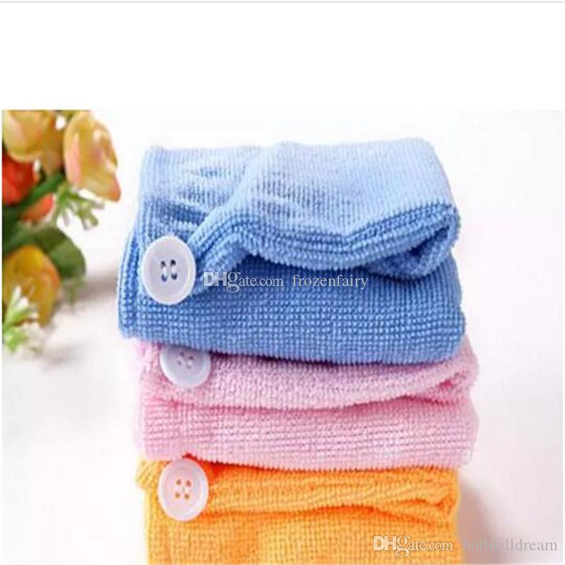 1000pcs High Quality Microfiber Magic Hair Dry Drying Turban Wrap Towel Hat Cap Quick Dry Dryer Bath make up towel aa190-aa195