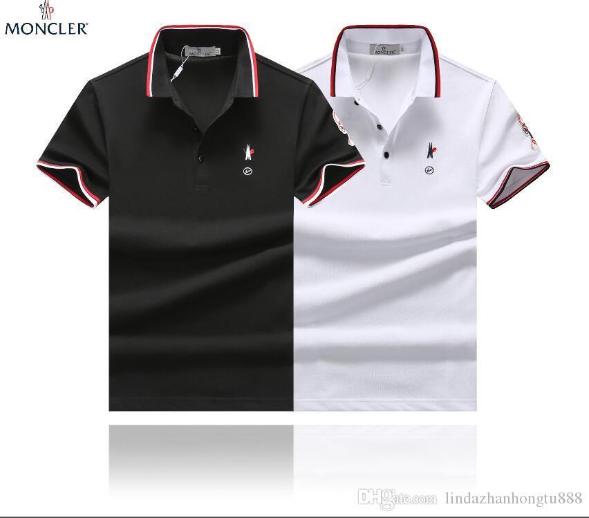 9eebf87b4 2019 style cotton polo t-shirts 21 new men's Moncler shirts short sleeves  casual t-shirts cotton M--XXXL shirts