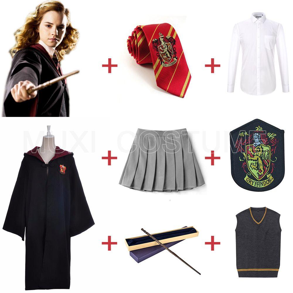 Gryffindor Uniform Hermione Granger Cosplay Costume Adult Halloween Party New