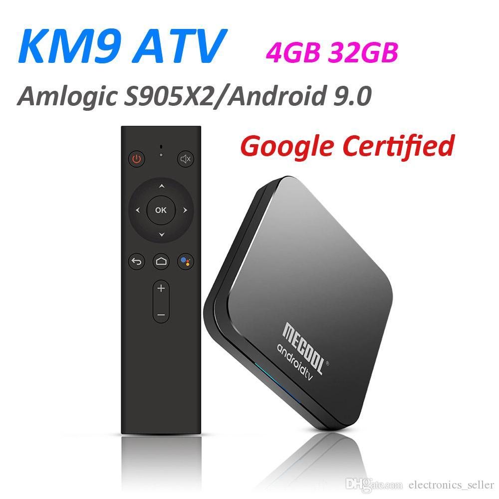 Google Certified Mecool KM9 ATV 4G 32G Android 9 0 TV Box Amlogic S905X2  Voice Control Dual WIFI BT4 1 Set Top Box