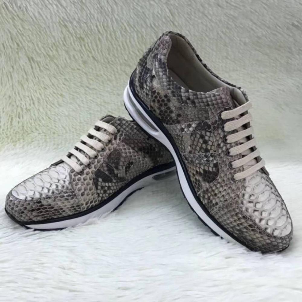 3a911450aeb9 100% Genuine Real Python Skin Men Shoe