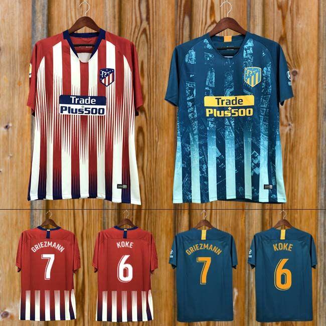 2019 Custom 19 Madrid Atletico Soccer Jersey GRIEZMANN Correa Lucas Costa  Koke Saul Godin Luis Gimenez 2019 Kids Kits Women Men Football Shirt From  ... a8d801f15